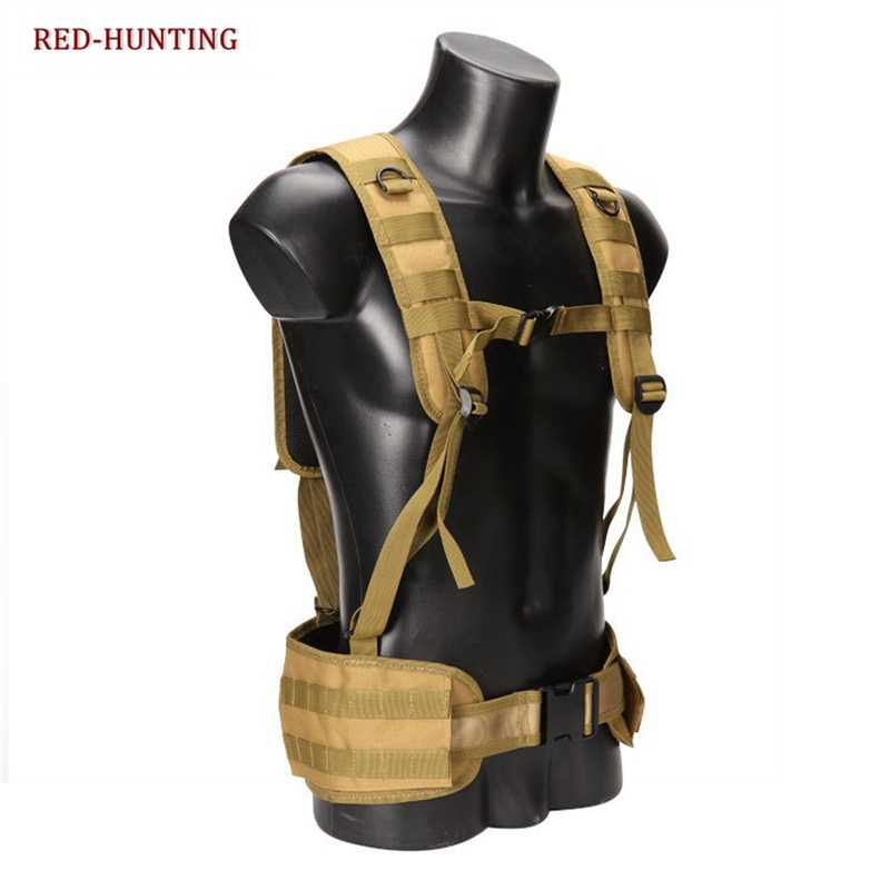 Airsoft Paintball Molle Combat Assault Rompi Tactica Serangan Molle Adjustable Dada Rompi