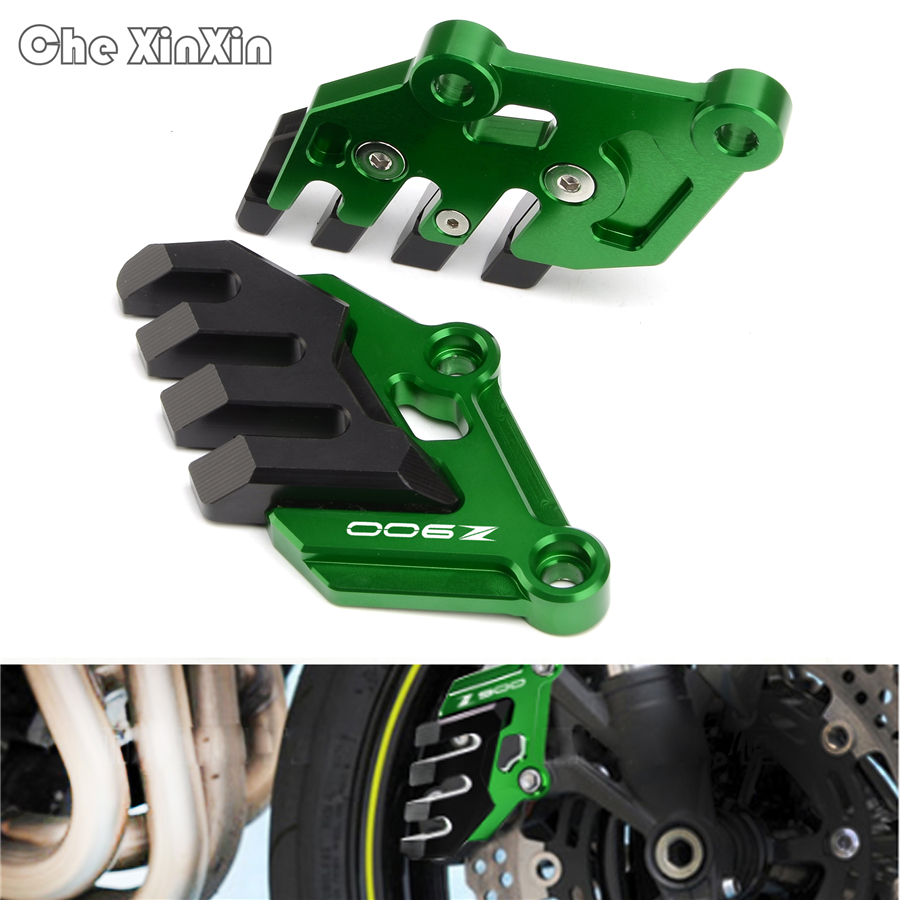 Motorcycle Accessories CNC Aluminum Front Brake Disc Caliper Protector Cover For Kawasaki Z900 Z 900 2017