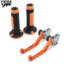 цены Motorcycle Accessories Brake Clutch Levers Pivot Dirt Bike Hand Grip For KTM 200EXC 200 EXC 2003-2008 2009-2013 2012 2011 2010