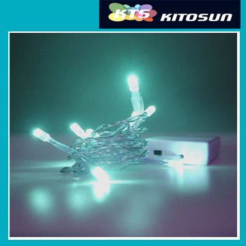 KITOSUN AA Battery Operated teal color led string lights 15-30-40 leds Super Brightness Wedding Chrismtas Xmas Party Lamp