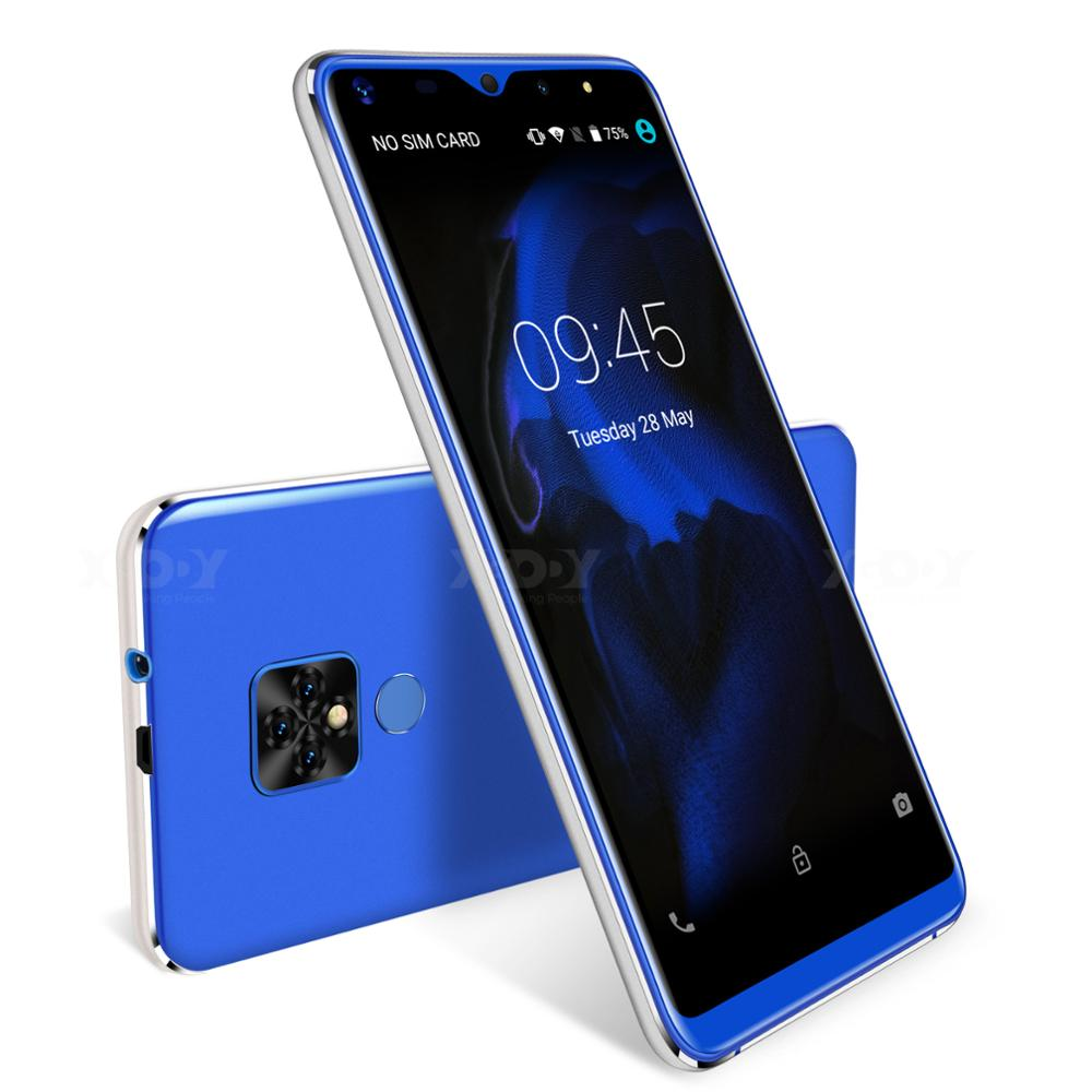 Xgody Mate 20 Mini téléphone portable Android 9.0 2500 mAh téléphone portable Quad Core 1 GB + 16 GB 5.5 pouces 18:9 écran double caméra 3G Smartphone