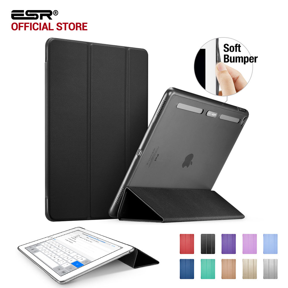 Case for iPad Pro 12.9 inch, ESR Soft TPU Corner Translucent Hybrid Back Cover Auto Wake Smart Cover Case for iPad Pro 12.9 2015 case for ipad pro 12 9 inch esr pu leather tri fold stand smart cover case with translucent back for ipad pro 12 9 2015 release