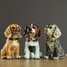 Europe Resin Simulated dog ornaments tabletop fairy garden Creative and lovely figurines crafts room decoration accessories