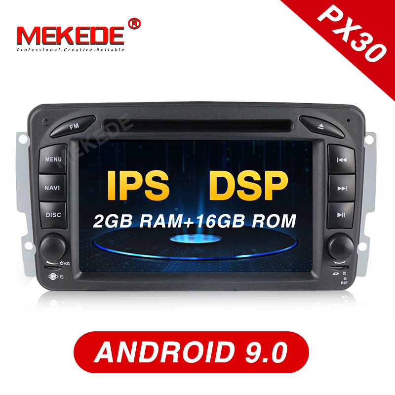 Mekede PX30 IPS DSP android 9 0 Car GPS DVD player for Mercedes Benz W203 W208