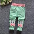 (1 шт./лот) 100% хлопок 2016 мультфильм мягкие брюки для девочки 1-3 лет Рождественский подарок