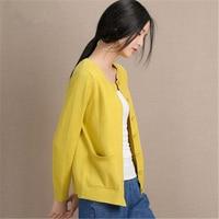 2017 Spring Autumn Sweater Cardigan Female Basic Jacket Single Breasted Solid Sweater Women Slim Minimalist Art Knit Coat L515