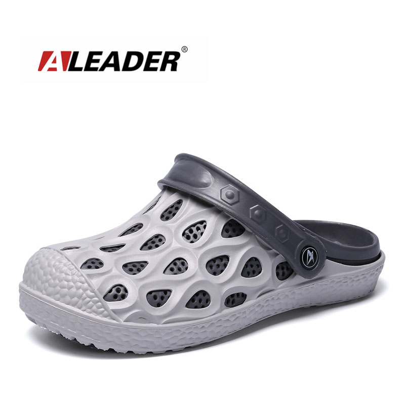 ALEADER Summer Mens Classic Crocus Clogs Outdoor Comfortable Beach Sandals For Men Big Size Pool Shower Water Slippers Male