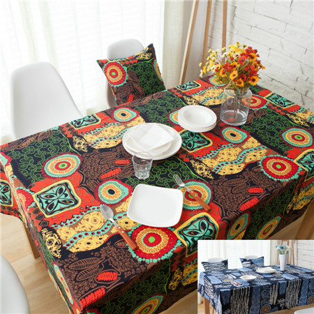 National wind explosion models cotton linen tablecloths Sun flower table cloth tablecloth Table Covers for Wedding Party Home 4