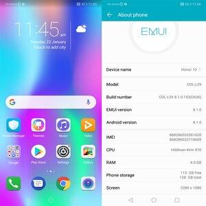 Image 2 - Version mondiale Honor 10 19:9 plein écran 5.84 pouces AI caméra Octa Core empreinte digitale ID NFC android 8.1