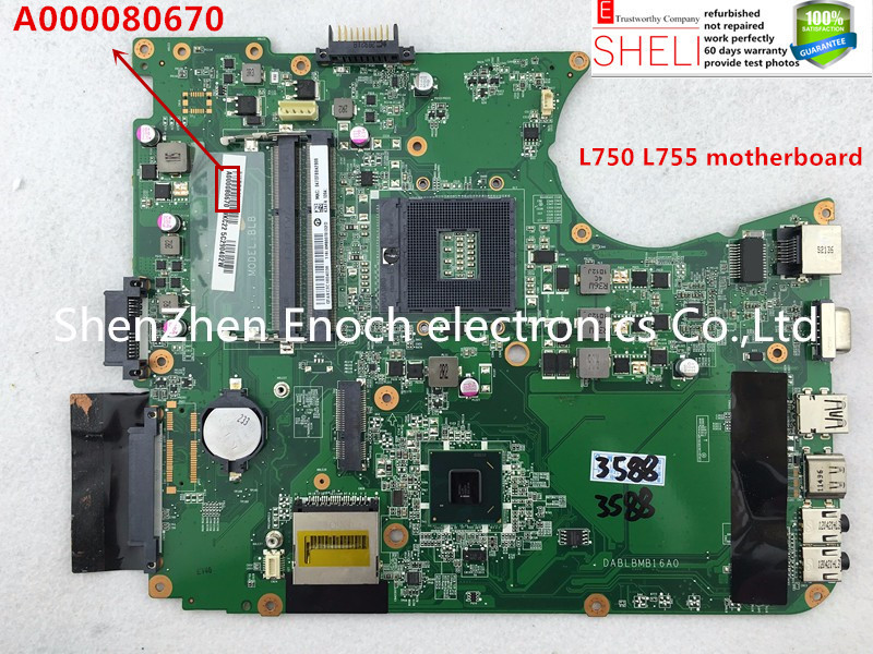 A000080670 for toshiba satellite L750 L755 laptop motherboard DABLBMB16A0 intel HD graphic chip стоимость