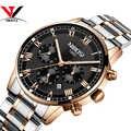 NIBOSI hommes Sport montres hommes étanche marque de luxe montre 2019 mode pleine acier analogique Quartz montre-bracelet Relogio Masculino