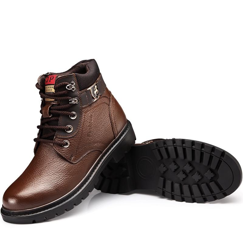 Imperméables Chaussures Laine Neige Hommes De 9189bl Peluche Cuir Mode D'hiver 9189br Véritable Confortable Bottes Chaud En Martin Osco pOq15