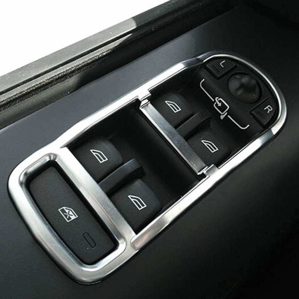 Autocollant de garniture de couvercle de commutateur de clé de bouton de levage de fenêtre en verre de fenêtre pour land rover freelander2 freelander 2 accessoires d'intérieur