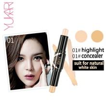 YUKARI Highlight Contour Double Head Stick Beauty Makeup Face Powder font b Cream b font Shimmer