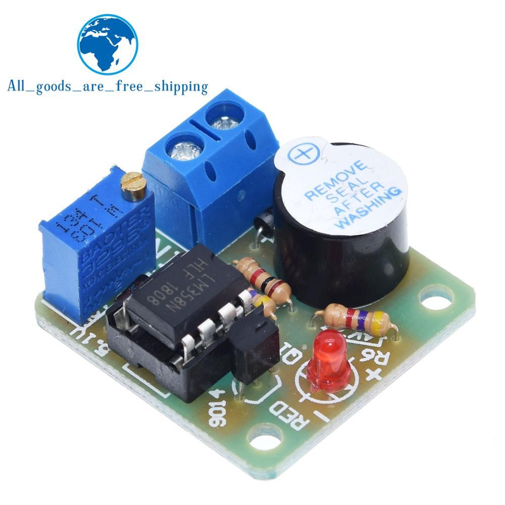 Завеса 12V LM358 аккумулятор звук светильник Сигнализация доска зуммер предупреждения над разрядкой модуль контроллера без защиты от перенапр...