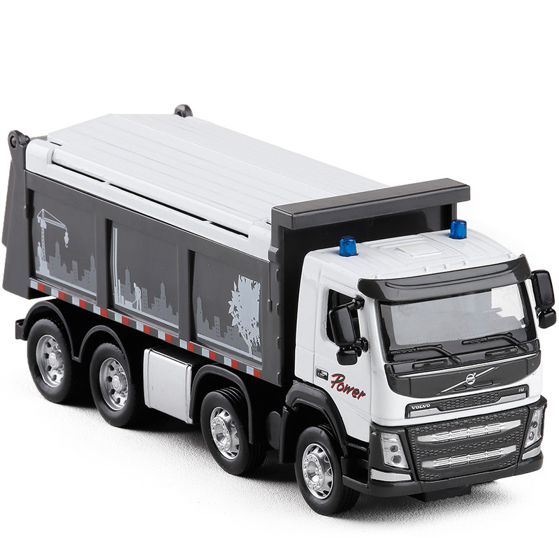 Best Selling 1:48 Volvo Engineering Transport Truck Alloy Model,children's Educational Sound And Light Toy Car,free Shipping