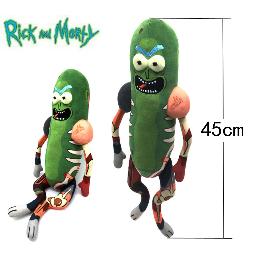 2019 New Rick And Morty Cute Pickle Rick Plush Stuffed Toy Doll Funny Soft Pillow Stuffed Doll Toy2019 New Rick And Morty Cute Pickle Rick Plush Stuffed Toy Doll Funny Soft Pillow Stuffed Doll Toy