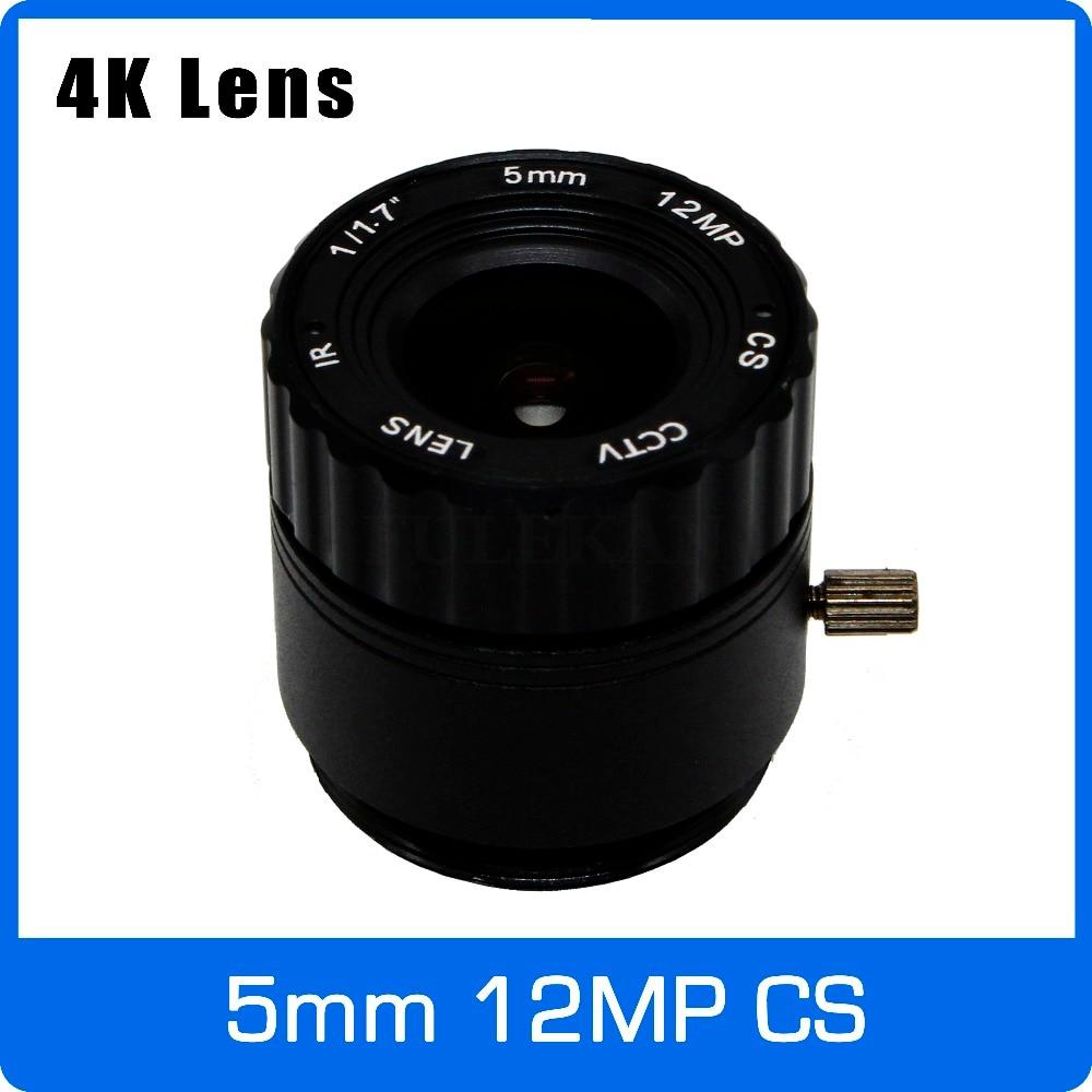 4K Lens 12Megapixel Fixed CS Lens 5mm 110 Degree 1/1.7 inch For IMX226 4K IP CCTV Box Camera Free Shipping 4k lens 8megapixel fixed m12 small lens 1 2 5 inch 4mm 100 degree for sony imx274 imx317 imx179 4k ip cctv camera free shipping