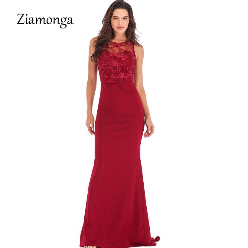 Ziamonga Runway Style Mermaid Formal Party Dresses 2019