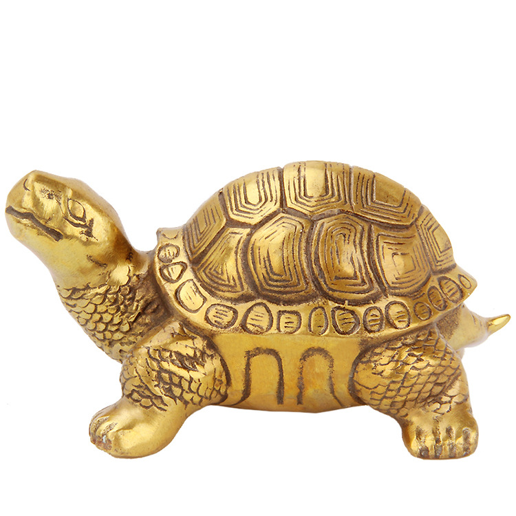 Feng Shui pur cuivre pendentif tortue maison Fengshui décoration créative métal artisanat Bronze articles Statue cadeau chanceux