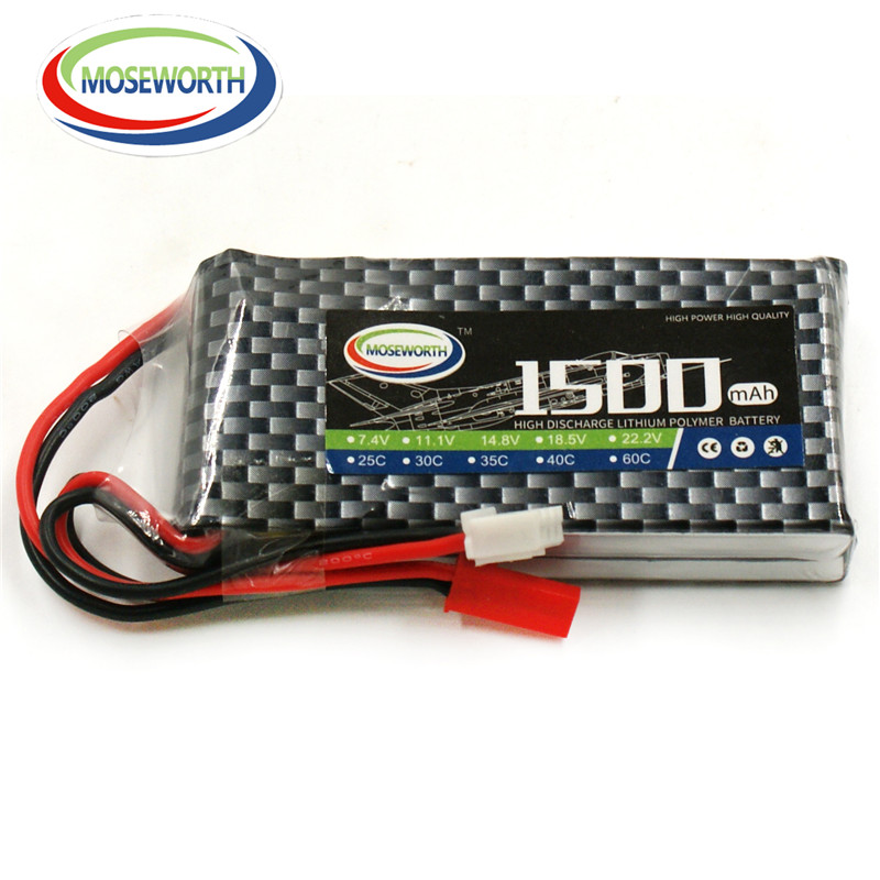 2PCS MOSEWORTH 2S RC Drone Lipo battery 7.4v 1500mAh 35C Li-Po batteria For RC Airplane Car Boat AKKU Free shipping купить