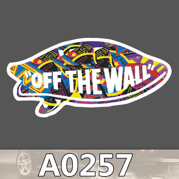 A0257 van fora da etiqueta da parede logotipo sinal colorido à prova dcolorful água mala portátil bagagem skate coisas estranhas adesivo