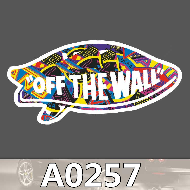 A0257 Van Off Wall Sticker Logo Sign Colorful Waterproof Suitcase Laptop Guitar Luggage Skateboard Stranger Things Sticker