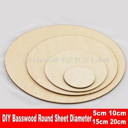 Basswood DIYシートレーザーカットラウンドBasswood DIY素材2 mm厚い異径モデルDIY合板
