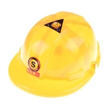 Желтый симулятор безопасности шлем шляпа игрушка строительство забавные гаджеты Творческие дети Дети подарок ролевая игра