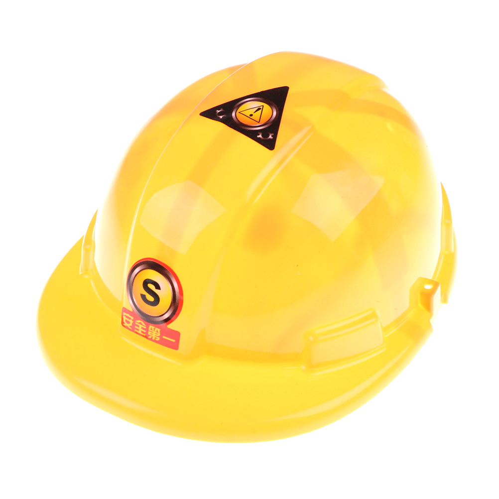 New Yellow Simulation Safety Helmet Hat Toy Construction Funny Gadgets Creative Kids Children Gift Pretend Role Play