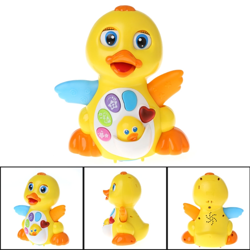 HBB Lovely Musical Dancing Duck Toy Lights Action With Adjustable Sound Toys For Kids Baby Cute Toy