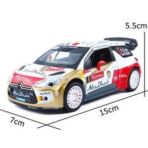 Image 4 - 1:32 ölçekli simülasyon DS3 alaşım araba modeli Diecast araç oyuncak ses ışığı ile Metal otomatik ralli yarış oyuncak araba çocuk hediyeler