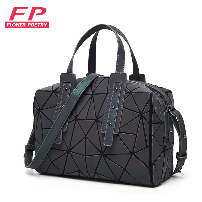 2019 Fashion Zipper Bao Bags Women Luminous Sac Bag Tote Female Geometry Shoulder Bags Saser Plain Folding Handbags Bag Bolasa