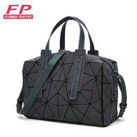 10ca91b6e 2019 Fashion Zipper Bao Bags Women Luminous Sac Bag Tote Female Geometry  Shoulder Bags Saser Plain