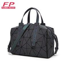2019 moda fermuar Bao çanta kadın aydınlık sac çanta Tote kadın geometri omuz çantaları Saser düz katlanır çanta çanta Bolasa