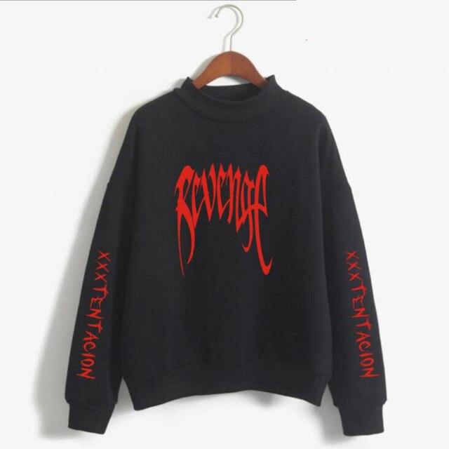 c8ae3845f956c Zemsta Xxxtentacion bluza z kapturem mężczyzn Poleron Hombre streetwear Hip  Hop mężczyzna marka sweter z golfem