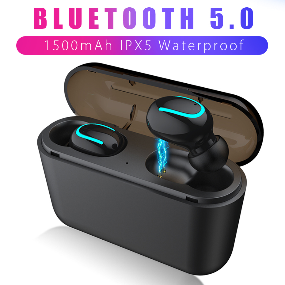 ANBES <font><b>Bluetooth</b></font> <font><b>5.0</b></font> Earphone <font><b>TWS</b></font> Wireless Headphones Sports Earbuds HBQ Q32 Headset Mini Gaming Cordless Headphone PK <font><b>i10</b></font> image