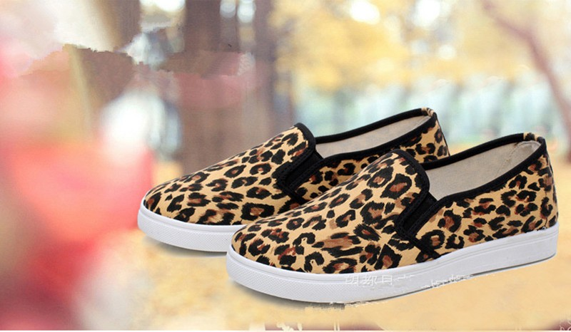 2016 Spring and Autumn Women\'s Casual Shoes Leopard Print  3 Colors Loafer Women Flats Shoes Free shipping HSE15 (8)