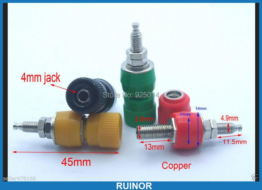 4 color Copper Binding Posts for Power terminal Banana plug Speaker Cable Probes mdocs posts