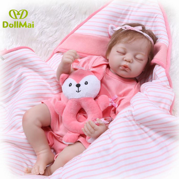 Boutique Reborn baby dolls 50cm real bebes reborn silicone baby dolls sleeping newborn babies alive doll gift toys