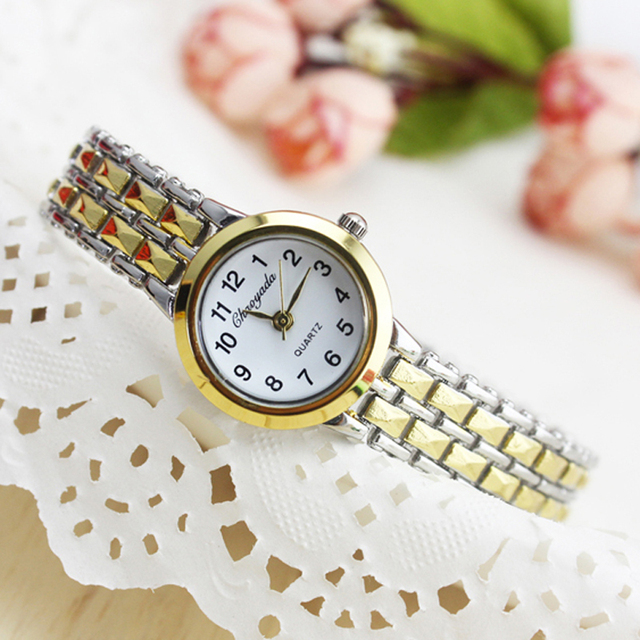 2018 cyd women quartz bracelet watches ladies fashion crystal luxury gold Stainl