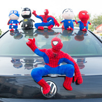 Funny Decoration Doll Spider Man Home Decor Car Exterior Decoration Cartoon Doll Car Tail Totoro Pikachu Mario Crayon Shin chan