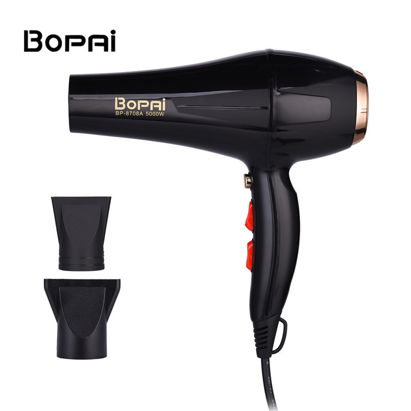 5000W Professional Negative Ionic Hair Dryer Portable Traveller Hair Blower With Wind Collecting Nozzle For Hair Salon Home Use