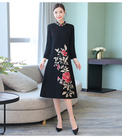 2019 new women's cheongsam qipao evening dress chinese oriental dresses traditional chinese long wedding dress retro cheongsam