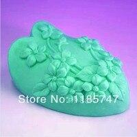 Grande-Mold 3D A Forma di Cuore In Silicone Sapone Della Muffa Decorazione Stampo In Silicone Stampi Per il Cioccolato