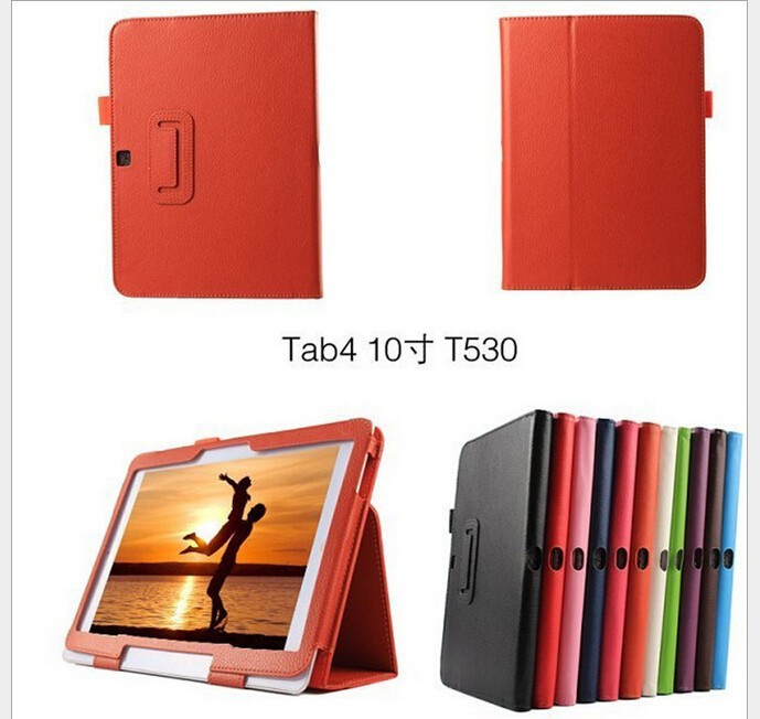3 in 1 Hot Business Leather Book folding Stand cover for Samsung Galaxy Tab 4 10.1 inch T530 T531 T535 Tablet Case+ film+stylus