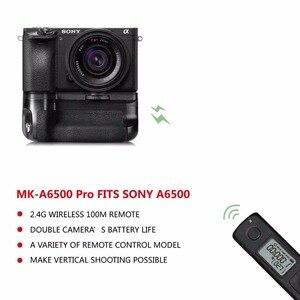 Image 4 - Meike ใหม่ MK A6500 แบตเตอรี่ Pro ในตัวรีโมทคอนโทรล 2.4GHZ ในแนวตั้งสำหรับ Sony a6500 กล้อง