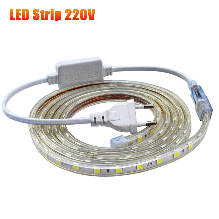 ac 220v waterproof flexible 5050 smd tira led strip light silicone tube waterproof 60leds m with. Black Bedroom Furniture Sets. Home Design Ideas