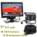 DIYKIT DC 12V-24V 7 inch TFT LCD Car Monitor + 4pin IR Night Vision CCD Rear View Camera For Bus Houseboat Truck