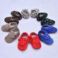 Franja de couro genuíno Primeiros Caminhantes Suaves sapatos de Bebê fundo mocassins de Couro cabelo Cavalo Leopardo Impressão Sapatos de Bebê